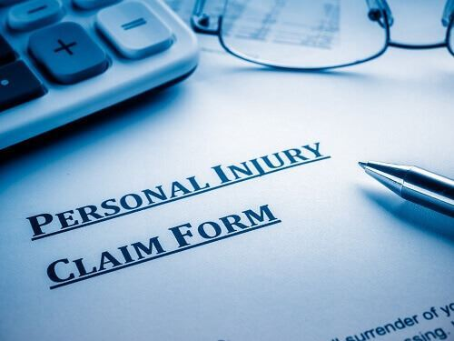 Personal Injury claim form